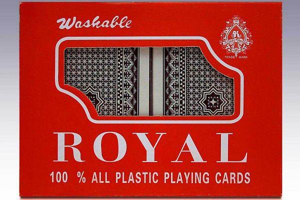 Pokerové karty 100% plast - sada 2 ks