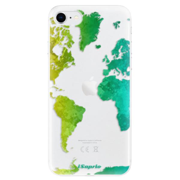 Odolné silikonové pouzdro iSaprio - Cold Map - iPhone SE 2020
