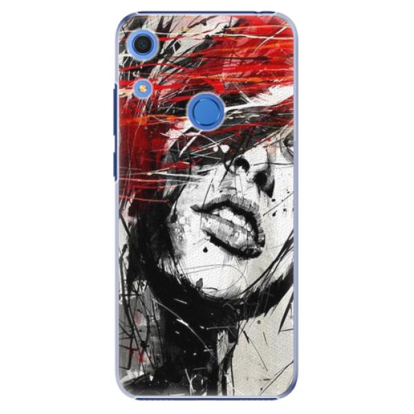 Plastové pouzdro iSaprio - Sketch Face - Huawei Y6s