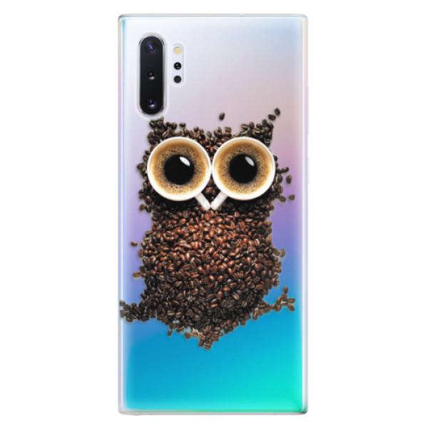 Odolné silikonové pouzdro iSaprio - Owl And Coffee - Samsung Galaxy Note 10+