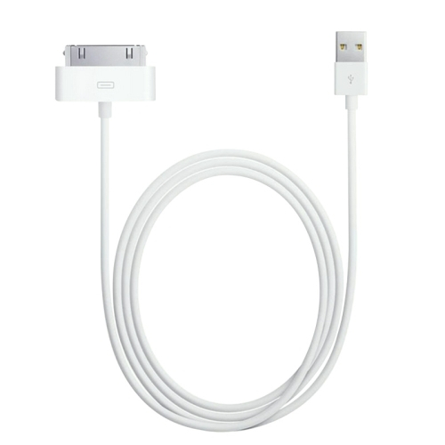 Kabel pro iPhone 3G / 3GS / 4 /4S a iPad 1 / 2 / 3 - bílý
