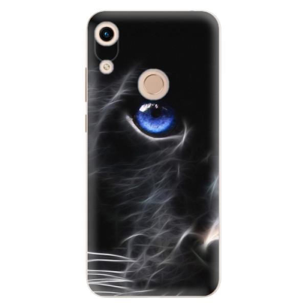 Odolné silikonové pouzdro iSaprio - Black Puma - Huawei Honor 8A