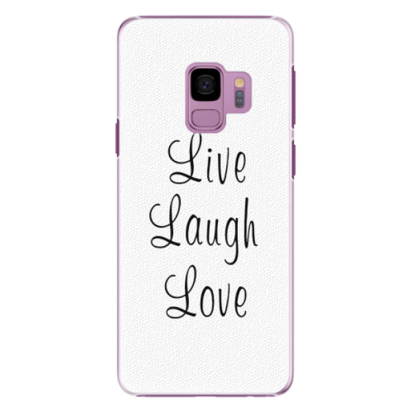 Plastové pouzdro iSaprio - Live Laugh Love - Samsung Galaxy S9