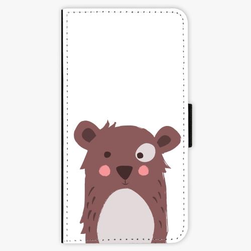 Flipové pouzdro iSaprio - Brown Bear - iPhone X