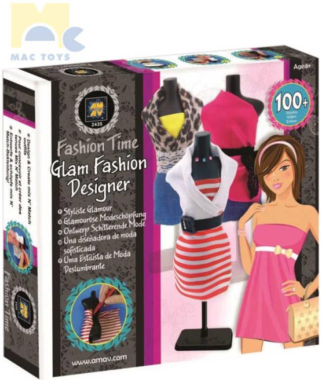 MAC TOYS Módní návrhářka Glam Fashion set navrhování modelů