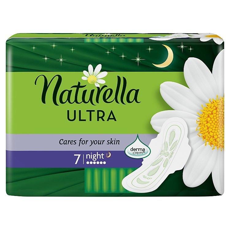 Camomile Ultra night hygienické vložky s křidélky a jemnou vůní 7ks/bal.