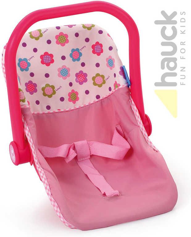 HAUCK Růžová dětská autosedačka pro panenky do 43cm