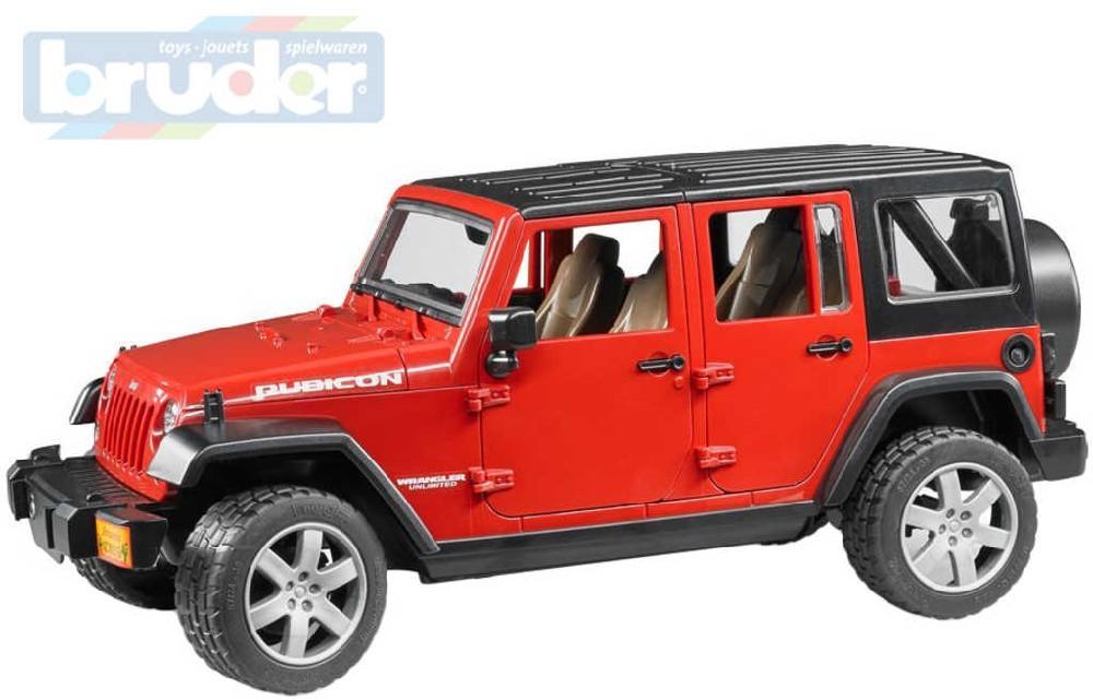 BRUDER Auto model Jeep Wrangler červený 1:16 plast 02525 (2525)