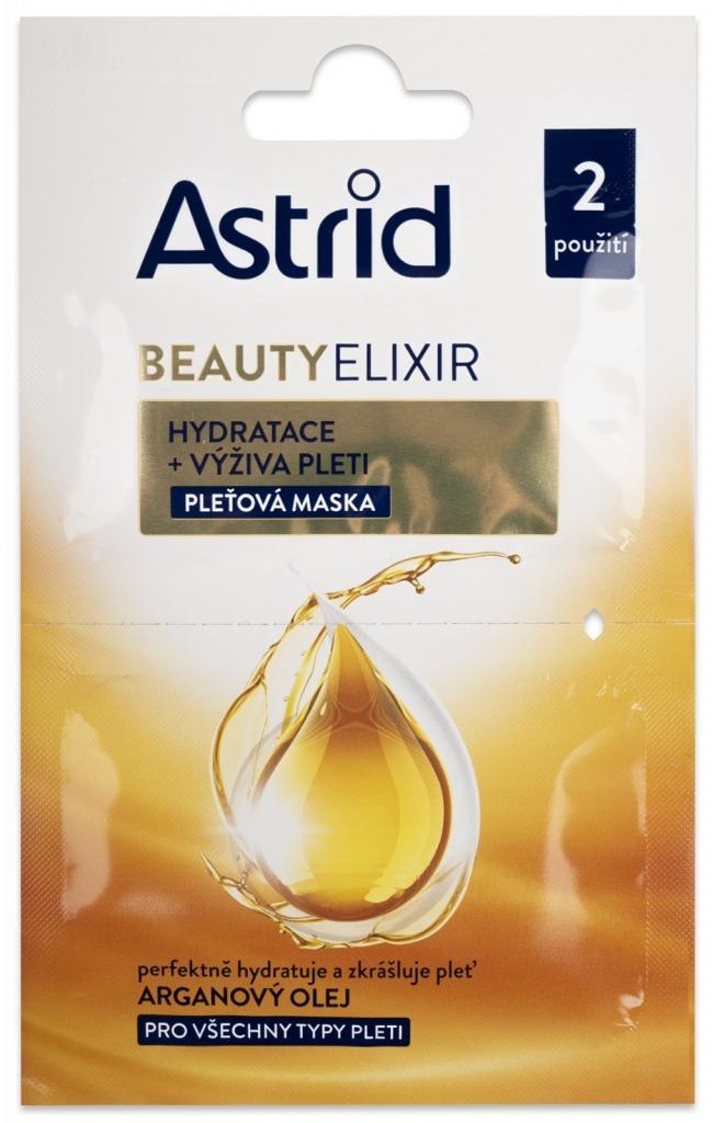 BEAUTY ELIXIR hydratační a vyživující pleťová maska 2x8 ml