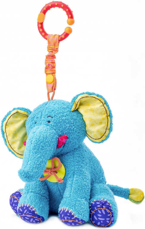 NINY PLYŠ Baby slon Kaleo 21cm mazlící zvonící pro miminko