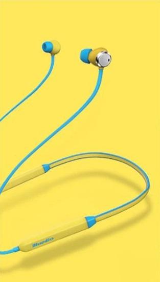 Bluetooth sportovní sluchátka - Tyrkysová-žlutá
