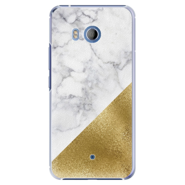 Plastové pouzdro iSaprio - Gold and WH Marble - HTC U11