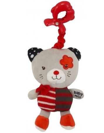 Závěsná hračka Kočička - červená