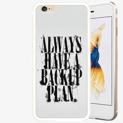Plastový kryt iSaprio - Backup Plan - iPhone 6 Plus/6S Plus - Gold