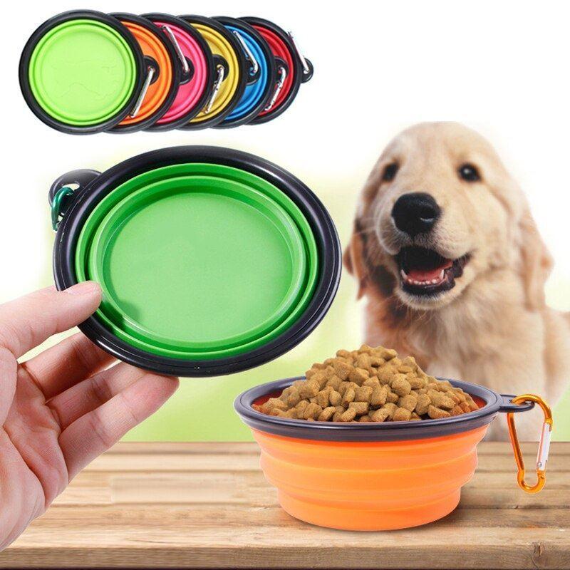 Skládací silikonová miska pro zvířata