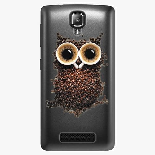 Plastový kryt iSaprio - Owl And Coffee - Lenovo A1000