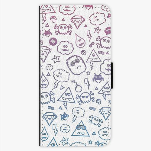 Flipové pouzdro iSaprio - Funny Clouds - Nokia 5