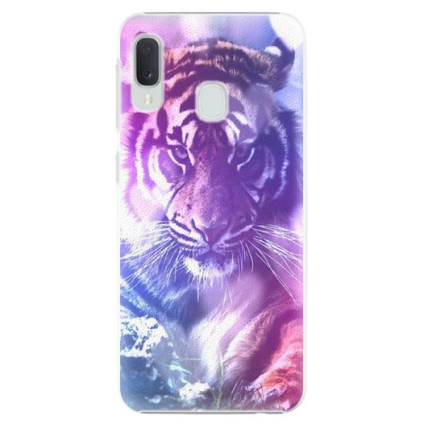 Plastové pouzdro iSaprio - Purple Tiger - Samsung Galaxy A20e