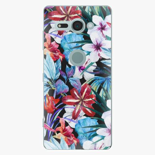 Plastový kryt iSaprio - Tropical Flowers 05 - Sony Xperia XZ2 Compact