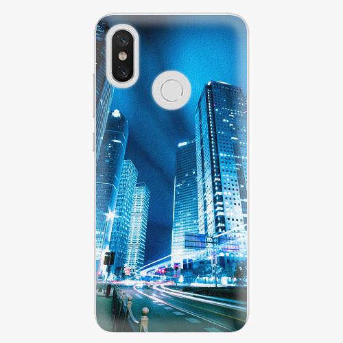 Plastový kryt iSaprio - Night City Blue - Xiaomi Mi 8