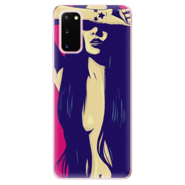 Odolné silikonové pouzdro iSaprio - Cartoon Girl - Samsung Galaxy S20