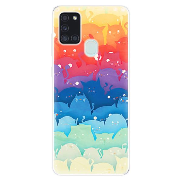 Odolné silikonové pouzdro iSaprio - Cats World - Samsung Galaxy A21s