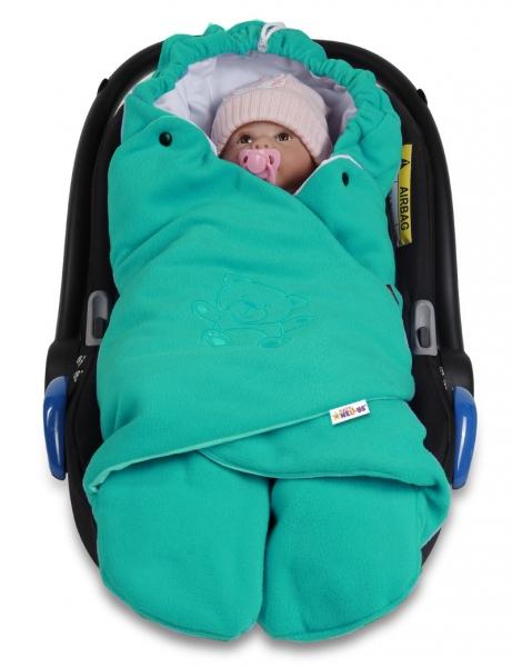 baby-nellys-detska-zavinovacka-fusak-polar-bio-bavlna-tyrkysova
