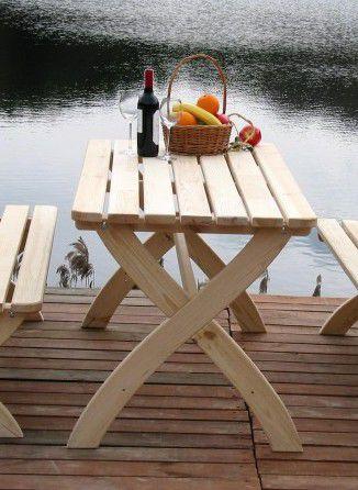 Zahradní dřevěný stůl STRONG přírodní FSC
