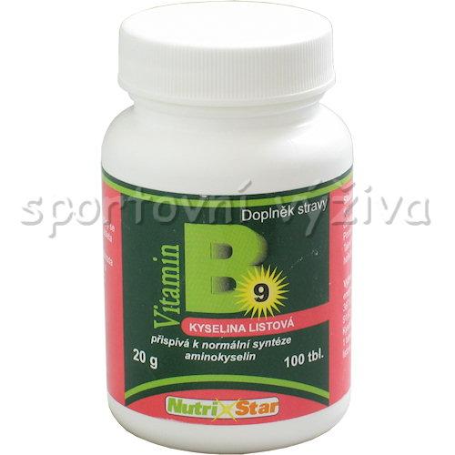 Kyselina listová Folacin vitamin B 9 100 tbl