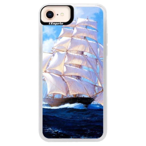 Neonové pouzdro Blue iSaprio - Sailing Boat - iPhone 8