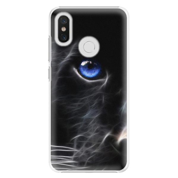 Plastové pouzdro iSaprio - Black Puma - Xiaomi Mi 8