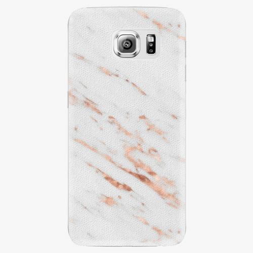 Plastový kryt iSaprio - Rose Gold Marble - Samsung Galaxy S6 Edge Plus