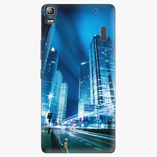 Plastový kryt iSaprio - Night City Blue - Lenovo A7000