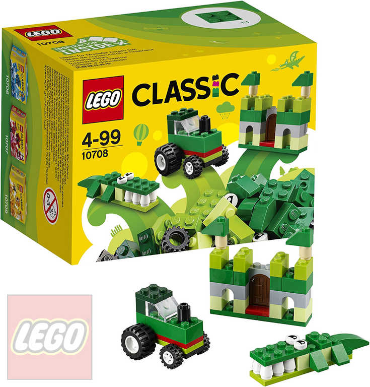 LEGO CLASSIC Zelený kreativní box 10708 STAVEBNICE