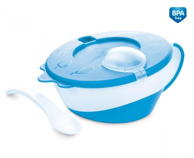 Miska s lžičkou Canpol Babies, modrá