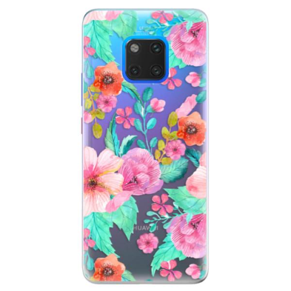 Silikonové pouzdro iSaprio - Flower Pattern 01 - Huawei Mate 20 Pro
