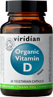 Viridian Vitamin D Organic - BIO 60 kapslí