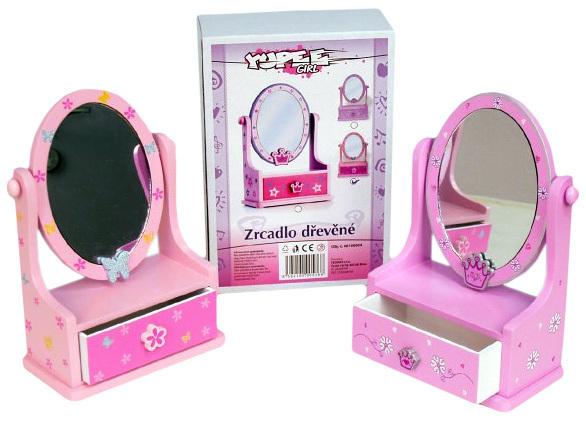 DŘEVO Toaletka dětská šperkovnice se zásuvkou zrcadlo *DŘEVĚNÉ HRAČKY*