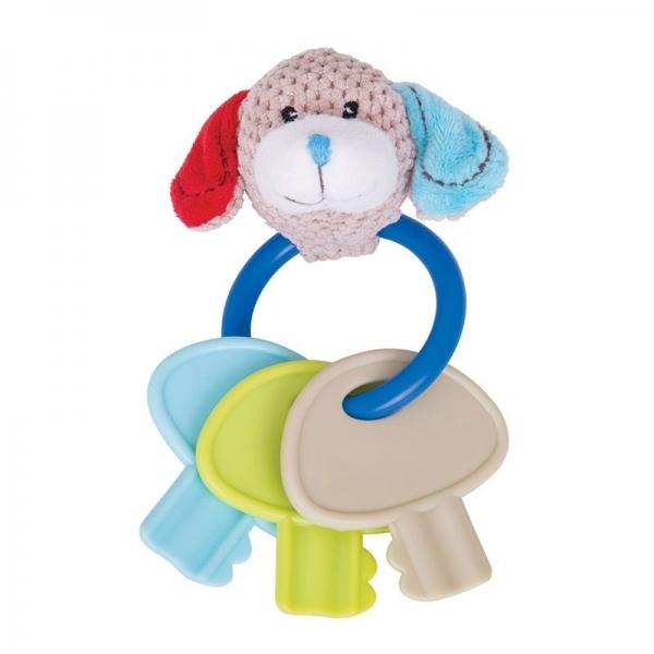 Edukační hračka pejsek Bruno s kousátkem - klíče