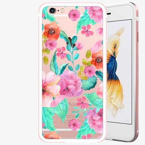 Plastový kryt iSaprio - Flower Pattern 01 - iPhone 6 Plus/6S Plus - Rose Gold