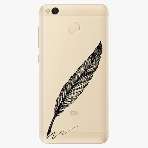 Plastový kryt iSaprio - Writing By Feather - black - Xiaomi Redmi 4X