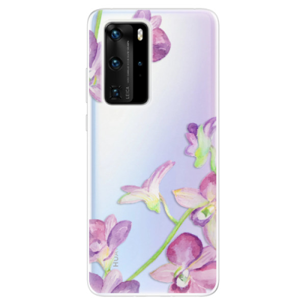 Odolné silikonové pouzdro iSaprio - Purple Orchid - Huawei P40 Pro