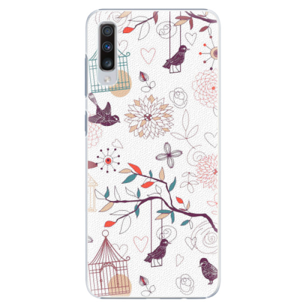 Plastové pouzdro iSaprio - Birds - Samsung Galaxy A70