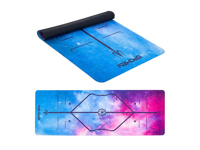 Angie semišová joga podložka 0,15cm-modra