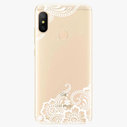 Silikonové pouzdro iSaprio - White Lace 02 - Xiaomi Mi A2 Lite