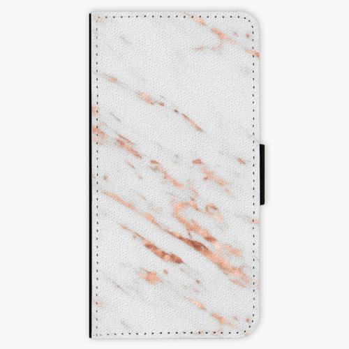 Flipové pouzdro iSaprio - Rose Gold Marble - iPhone 7 Plus