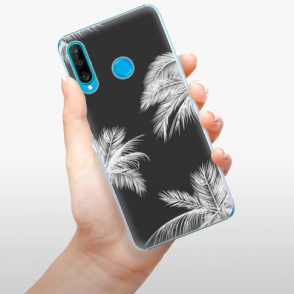 Plastové pouzdro iSaprio - White Palm - Huawei P30 Lite