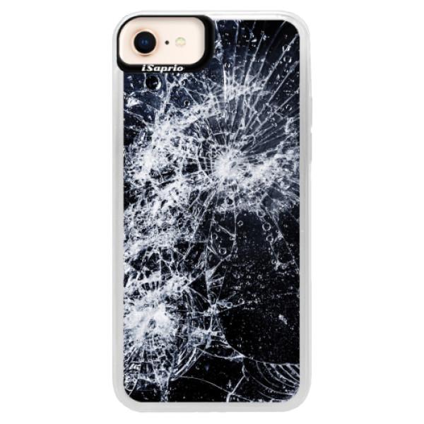 Neonové pouzdro Pink iSaprio - Cracked - iPhone 8
