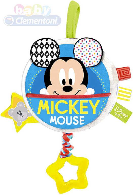 CLEMENTONI Baby chrastítko hudební skříňka natahovací Mickey Mouse