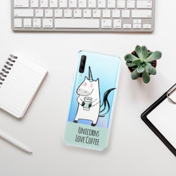 Odolné silikonové pouzdro iSaprio - Unicorns Love Coffee - Huawei P Smart Pro
